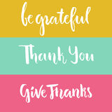 Grateful Lettering Stock Photos