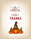 Grateful and thanksgiving greeting card Royalty Free Stock Photos