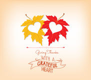 Grateful and thanksgiving greeting card Stock Photography
