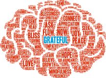 Grateful Word Cloud. On a white background Royalty Free Stock Photography