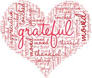 Grateful Word Cloud. On a white background Royalty Free Stock Photos