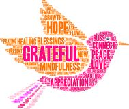 Grateful Word Cloud. On a white background Royalty Free Stock Images