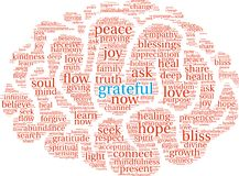 Grateful Word Cloud. On a white background Stock Photo