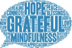 Grateful Word Cloud. On a white background Stock Photography