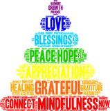 Grateful Word Cloud. On a white background Royalty Free Stock Photo