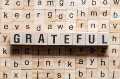 Grateful word concept stock image