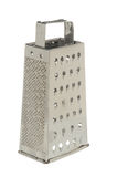 Grater. Stainless Steel grater isolated against pure white background royalty free stock photography