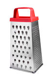 Grater. With red handle isolated over white royalty free stock photos