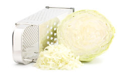 Grater And Cabbage Royalty Free Stock Image