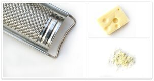 grater & cheese Stock Image