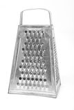 Grater do metal isolado sobre o branco Fotos de Stock Royalty Free