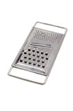 Grater. Metal grater isolated on white background Stock Photo
