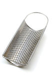Grater. Metallic shiny grater, isolated on white background Royalty Free Stock Images