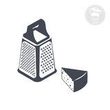 Grater. On a white background shows an icon indicating the grater Royalty Free Stock Image