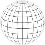 Graticule globe Meridian and parallel Royalty Free Stock Photo