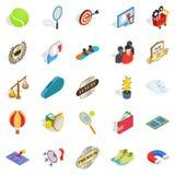 Gratification icons set, isometric style Royalty Free Stock Photo