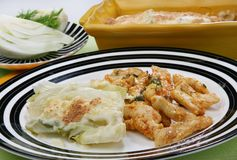 gratin еды au Стоковое Фото