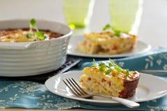 Gratin завтрака картошки и перца Стоковая Фотография