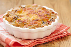 Gratin cuit au four Photo stock