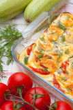 Gratin délicieux de légumes Photos stock