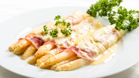 Gratin d'asperge photos stock