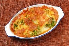 Gratin de broccoli images stock