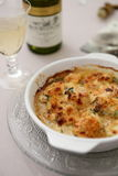 Gratin de noix de Saint Jacques Stock Photography