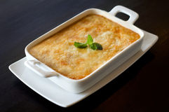 Gratin in dishware royalty-vrije stock foto