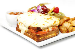Gratin grill cheese Stock Photo