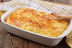 Gratin with pasta and cheese Stock Images