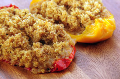 Gratin roast peppers Royalty Free Stock Photos