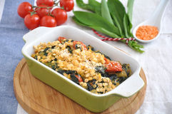 Gratin with spinach Stock Photography