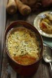 Gratin vegetal com batata doce, aipo vermelho Imagem de Stock