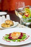 Gratinated Goats Cheese Royalty Free Stock Photography
