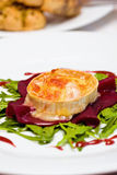 Gratinated Goats Cheese Stock Photography
