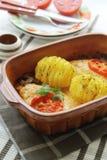 Gratined Chicken breast with mozzarella Stock Photo
