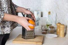 Grating оранжевый пыл Стоковое Фото