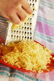 Grating cheese Royalty Free Stock Photo