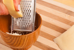Grating cheese Royalty Free Stock Photography