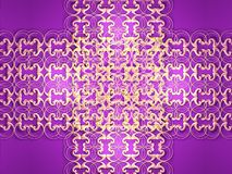 Grating crossing on purple. Background made of golden grating crossing, illustration made on computer royalty free illustration
