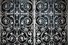 Grating with floral patterns Stock Photos