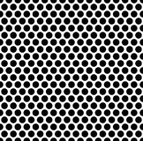 Grating pattern with grid, mesh of circles. Repeatable. Stock Images