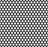 Grating pattern with grid, mesh of circles. Repeatable. Stock Image