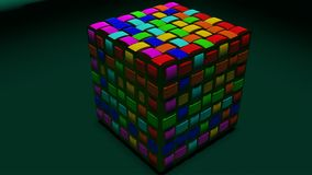 Grating van de kleurenkubus Stock Foto
