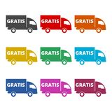 Gratis icon, Gratis sign, color icons set. Simple vector icon Stock Images