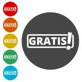 Gratis icon, Gratis sign. Simple  icons set Royalty Free Stock Image