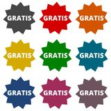 Gratis icons set Royalty Free Stock Photo