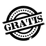 Gratis rubber stamp. Grunge design with dust scratches. Effects can be easily removed for a clean, crisp look. Color is easily changed royalty free stock images