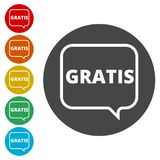 Gratis sign, icon, stamp Royalty Free Stock Photography