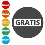 Gratis sign, icon, stamp Stock Photography